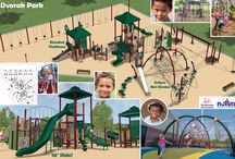 Dvorak Park Playground Renovation / Renderings for one of two options for the Dvorak Park Playground Renovation. / by Chicago Park District