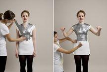 Montage d'un mannequin /sculpté sur le corps