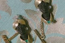 Our Blackamoors cufflinks  / Handmade Blackamoor Earrings