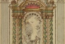 Baroque altarpiece drawing / Drawings baroque architecture altarpiece