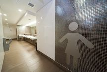 Tiled Public Bathrooms at Shopping Centres / Tiles within shopping center amenities is a must, as they provide a durable surface, easy to clean and can eliminate bad odours when manufactured with a HT coating. http://www.ceramicsolutions.com.au/ht-tiles-grout-0