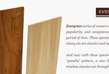 Natural Evergreen Veneers / Evergreen series of veneers are the species which have gained popularity and acceptance amongst masses over a long period of time. These species such as Teak, walnut, rosewood, ebony etc are classics and never go out of trend.