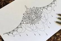 Sternum tattoo design