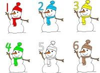 Free Christmas Theme / Six little snowmen Video