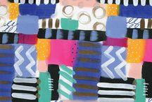 Pattern Design Love / Original, hand painted pattern designs.