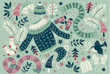 Holiday Inspired Surface Pattern {Assignment Inspiration}