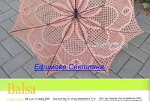 háčkované deštníky