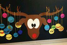 Výzdoba školy Vánoce
