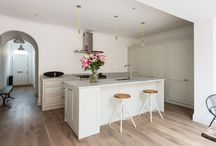 Light Kitchens / A selection of completed customer kitchens in a lighter finish.