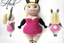 crochet dolls and knitted dolls
