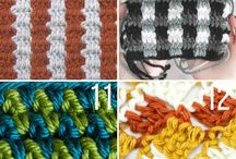 Puntos dos colores crochet