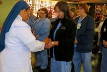 Nurses Week 2014 / Chaplain Cindy Goza (not pictured): Your hands are your tools. They have touched a fevered brow, welcomed new life, held pain, administered healing medication. They have clutched in frustration, and clapped in celebration. They have wiped away tears, soothed the worried, healed the sick. So today we want to bless your hands and say thank you.