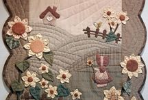 Quilts on the wall