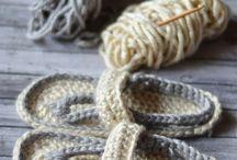 calçado em croche ou trico