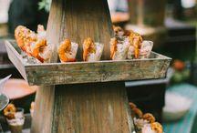 Rustic Wedding Reception Food