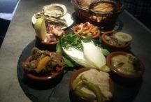 La table de la mer / On adore les fruits de mer, c'est notre passions. Nous en cultivons et nous en mangeons ! Voici l' huître Ostra Regal servie sur un plateau'