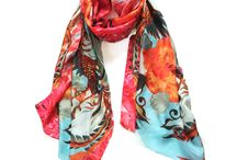 Scarves and other things to wear / clothes & accessories focusing on print & textile
