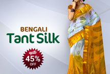 Latest Tant (Cotton) Sarees / Collection of Bengali Cottons Sarees Popularly known as Bengali Tant Sarees to make Rural & Urban women look and feel Gorgeous!
