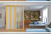 Sliding door partitions