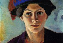 Expressionism / Экспрессионизмом обычно называют искусство, сосредоточенное на отображении эмоций, а в более узком смысле - искусство Северной Европы, особенно Германии, в период с 1905 по 1920 год. Wassily Kandinsky, Emil Nolde, Franz Marc, Gabriele Munter, Ernst Ludwig Kirchner, August Macke