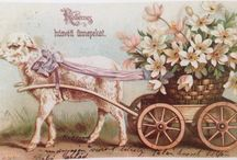 Hungarian Vintage Easter Cards / Hungarian Vintage Easter Cards