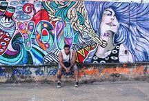 Paineis, Graffiti etc / arte a céu aberto, em espaços públicos