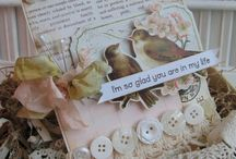 Cards: Shabby Chic / Lace, pearls, doilies, ribbons used for decorating handmade cards.