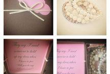 Bridesmaid and maid of honor gifts