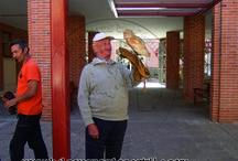 Cetrería terapeútica / Cetrería terapeútica que venimos realizando en diferentes centros de personas discapacitadas o residencias para personas mayores y tercera edad, como en estas fotos de la Residencia para personas mayores de Nava de la Asunción