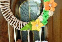 Pletení z papíru - věnečky