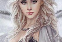 piękne kobiety i postacie