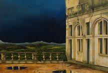 gebouwen / schilderijen van Theo Metaal