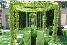 Green Weddings / Green wedding color inspiration.