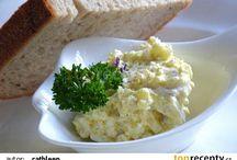 Pomazánky, saláty