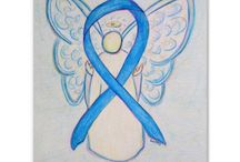 Light Blue Awareness Ribbon Support and Art Gifts / The light blue awareness ribbon color means support for prostate cancer, Trisomy 18, Addison's Disease, Lymphedema, Behcet's Disease, Twin to Twin Transfusion Syndrome (TTTS), and Spay and Neuter Pets.  Thyroid disease uses light blue and blue paisley awareness ribbons.  Let this light blue awareness ribbon help bring awareness to these causes!