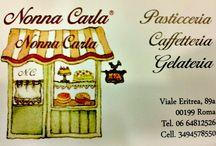 Nonna Carla / Nonna Carla è un'importante pasticceria- gelateria- caffetteria di Roma che si trova in viale Eritrea 89. Mi piacerebbe condividere con voi tutte le creazioni di Paola.