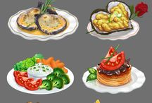 YUM / food comes in illustration