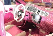 Amazing pink cars!