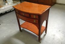 """Really nice chairside table from """"Hekman"""" / 175$ I have a really nice chairside table. Made from Hekman. theres 4 drawers. theres a chip on one of the drawer. the measurements are :  16 1/2 inches depth.  26 inches wide.  28 inches high.  I am in Brampton Area.  Taxes is extra.  Credit card accepted.  Ask me what else we have for sale...we have a lot.  Thank you  """"No Pay Pal"""""""