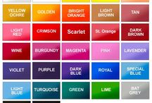 colour swatches / so many colour names