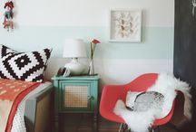 Inspiration: mint / white / black / gold living room / by Leigh
