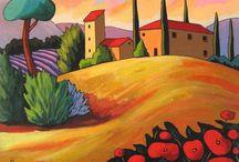 peinture Toscane