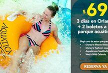 Ofertas Parques Acuaticos / Ofertas de parques acuaticos en Orlando...  Selecciona de 4 parques de agua:  Aquatica Wet n Wild Disney Blizzard Beach Disney Typhoon Lagoon