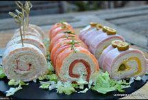 rollitos de jamón  salmon