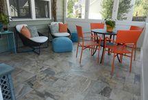 Outdoor screened porch tile floor -  Raja Vijay Sand by Stone Peak