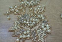 Beads embroidered