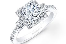 Princesse Collection / Our new collection of exquisite engagement rings specifically designed to enhance square center stones like princess-cuts, cushions, radiants, asschers and more! / by Natalie K