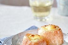 Oignon en croûte de sel au fromage