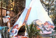 Project Tipi / Taking my old tattered tipi canvas and creating an awesome functional tipi that one may be even able to live in if they so choose to do so.  / by Nicole Lang