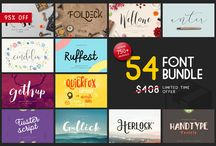 Font Bundles (Save over 90%!) / Handpicked and frequently updated collection of font bundles where you can save a lot of money. // Take a look at my other design related boards for more inspiration on Graphic Design, Typography, Webdesign, Illustration and Photography.